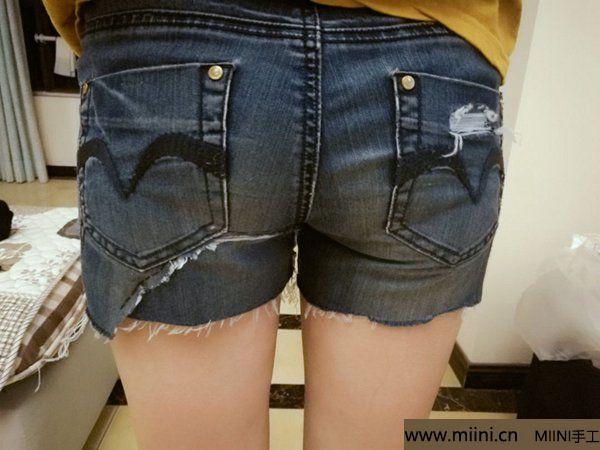 非主流破洞渔网牛仔短裤改造教程 第16步