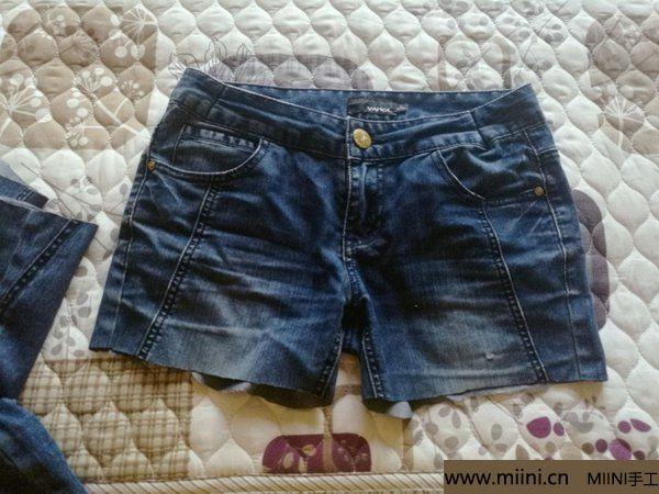 非主流破洞渔网牛仔短裤改造教程 第2步