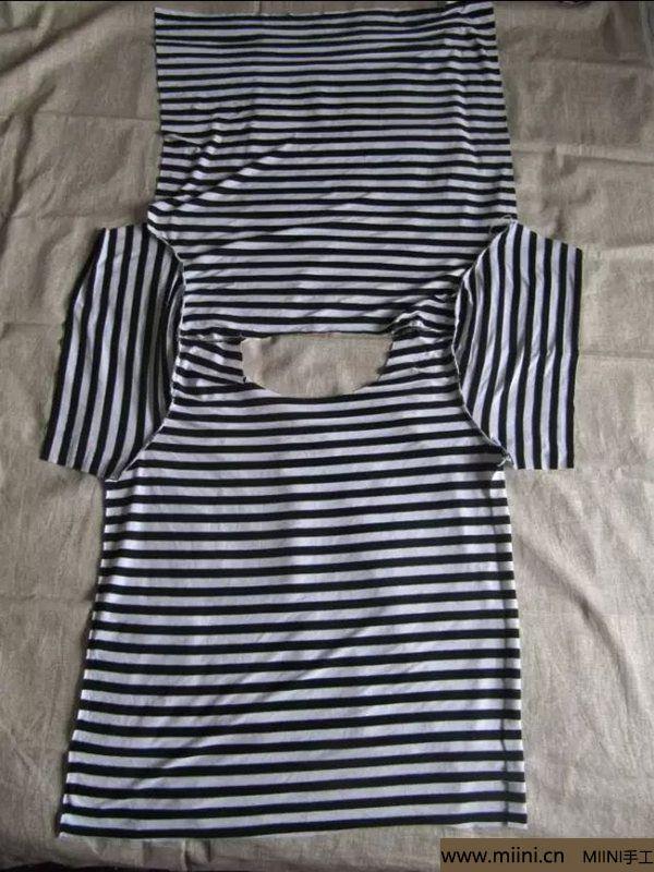 棉布之t恤的做法 第2步