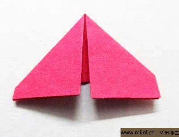 三角插折纸鱼教程 第6步