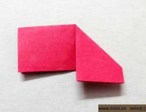 三角插折纸鱼教程 第5步