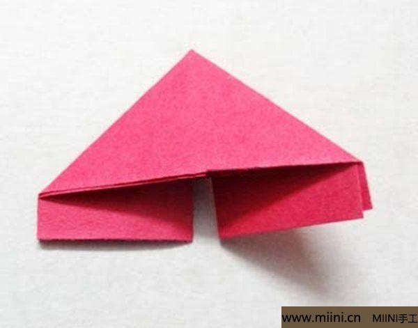三角插折纸鱼教程 第7步