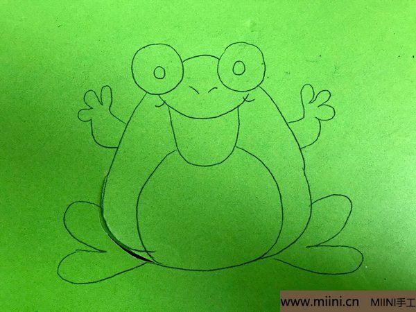 剪纸大青蛙 第1步