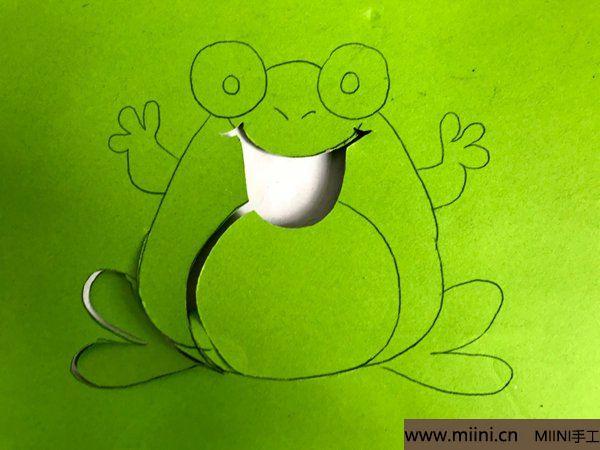 剪纸大青蛙 第2步
