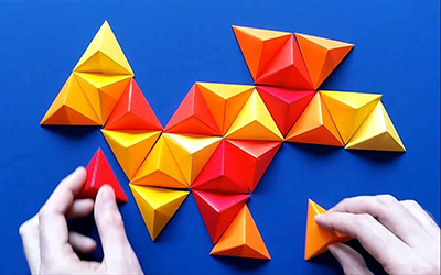 这个折纸作品厉害了!多折几个,摆出各种艺术画作