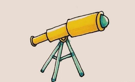 天文望远镜简笔画