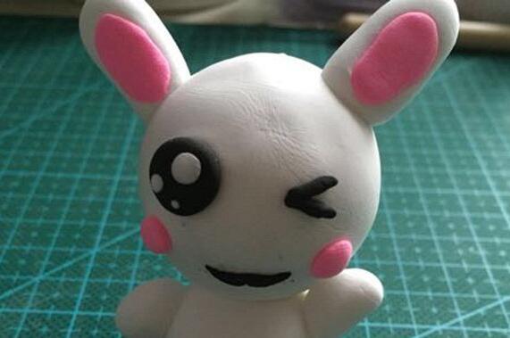 十二生肖兔子粘土制作教程