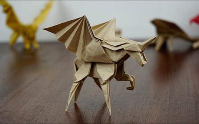 教你折纸,羽翼独角兽