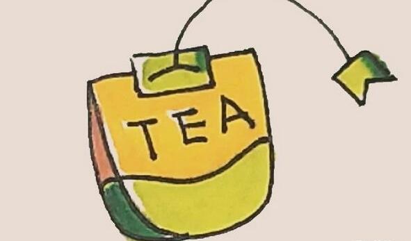 茶包简笔画步骤教程