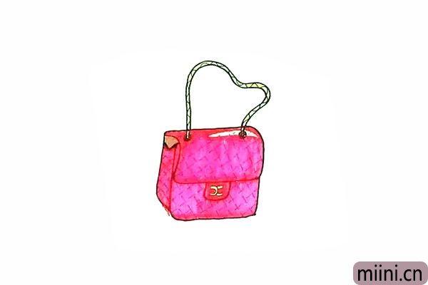 10.最后我们就可以给包包涂上漂亮的颜色了。
