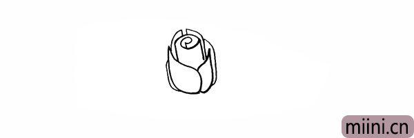 5.在周围用不同的形状画出其它花瓣。