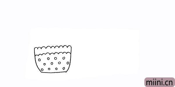 3.用波浪线和圆圈来装饰一下漂亮的花盆。
