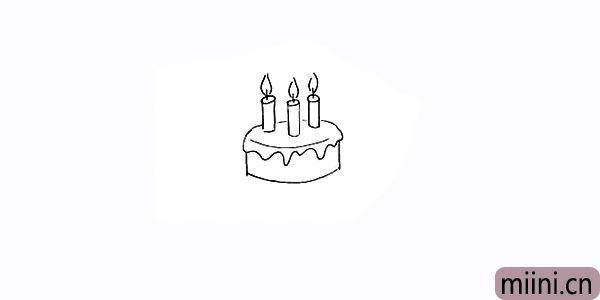 5.向下画出蛋糕的底座部分。