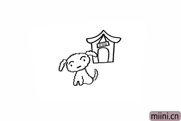 12.在门匾上写上`DOG`的字样代表小白的家。