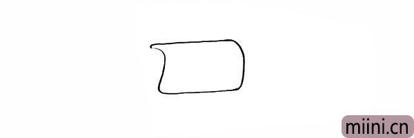 1.首先我们画出一个不规则的的长方形。