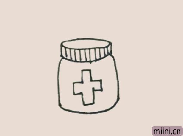 简笔画之药瓶
