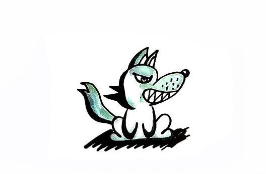 大灰狼简笔画图解