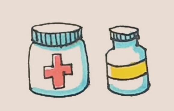 药瓶子简笔画教程