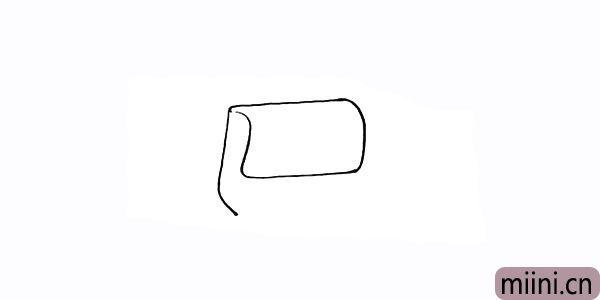 2.再用曲线画出包体的侧面部分。