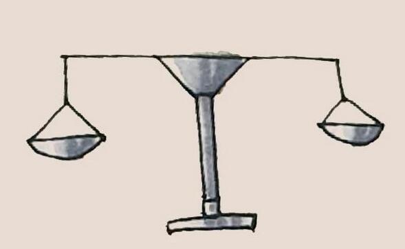 天秤简笔画步骤教程