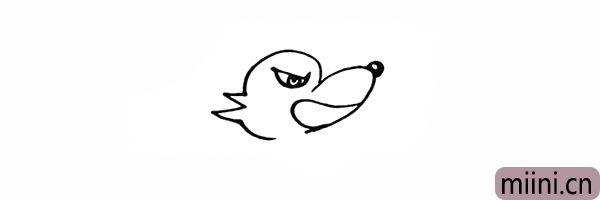 5.在下方画出大灰狼大大的嘴巴。