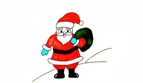 画一个圣诞老人简笔画教程