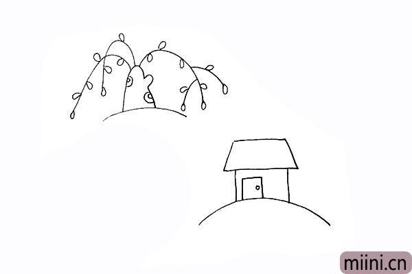 7.在画出房子的门锁.是一个长方形。