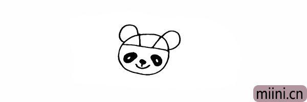 6.再画出福娃的两只耳朵。