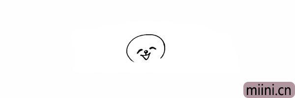 3.画出小熊的鼻子和嘴巴。