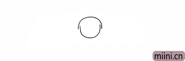 2.再画出一条曲线表示哪吒的头部。