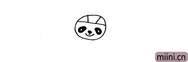 5.再画出福娃圆圆的鼻子以及嘴巴。