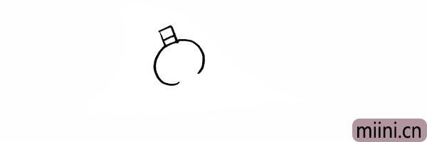 2.再画出葫芦的上半部分是椭圆状。