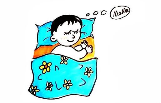睡觉的小宝宝简笔画步骤