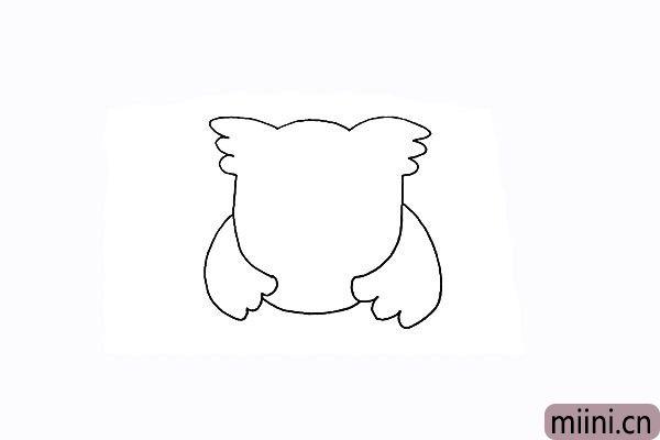 5.用弧线连接翅膀是猫头鹰的身体部分。