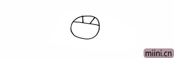 2.在顶部位置画上福娃头部的纹理。