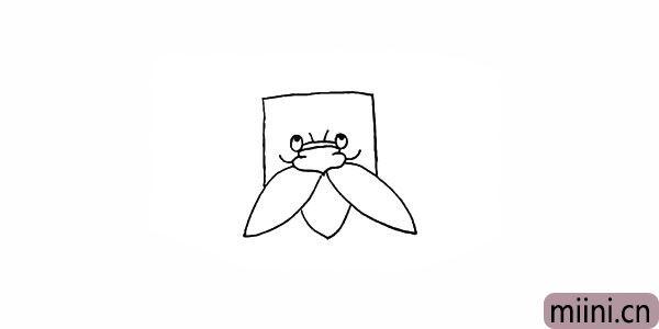 5.画出树爷爷像树叶一样的胡子。