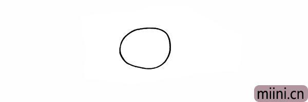 1.首先我们画出福娃圆形的头部。