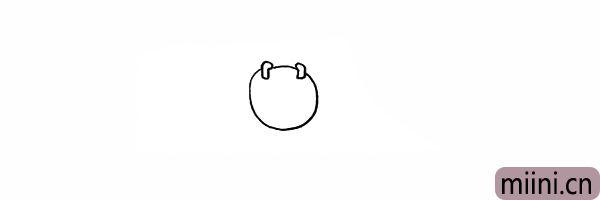 2.用两个小小的矩形表示它小触角。