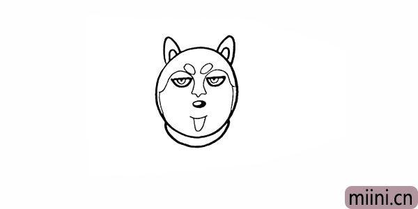 9.用椭圆状画出哈士奇的狗环。