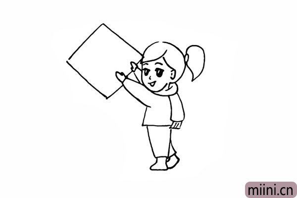 14.在手的位置画出一个菱形春联。