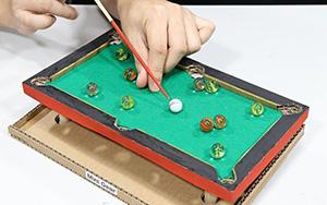 卡纸制作迷你台球桌,在家呆着玩一天