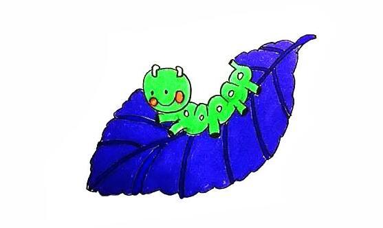 吃桑叶的蚕宝宝简笔画教程