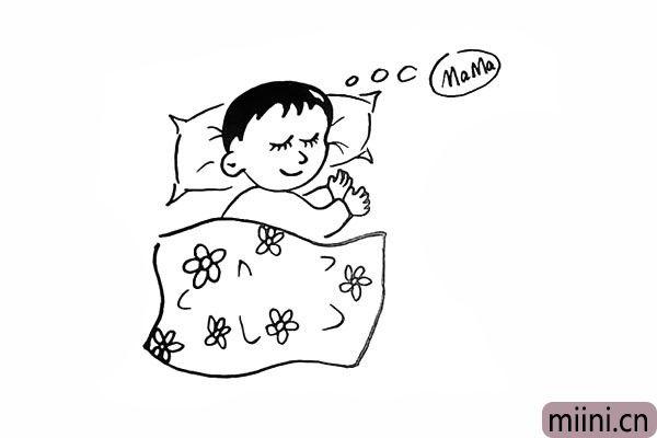 14.在圈中写出`MaMa`是宝宝在睡梦中的想象。