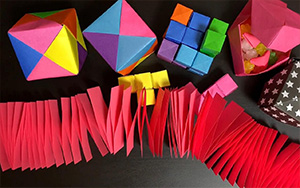 超好玩的折纸弹力纸片,方法很简单