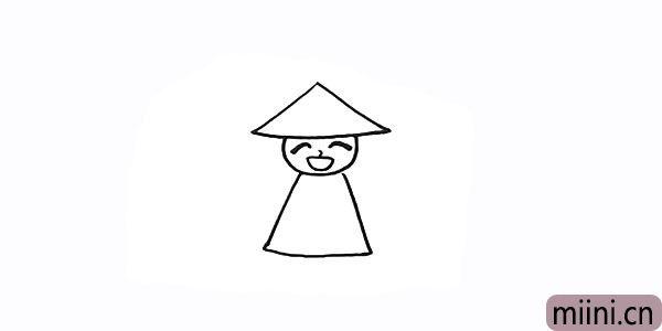 5.用梯形画出稻草人的身体。