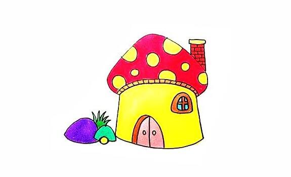 蘑菇房子简笔画教程