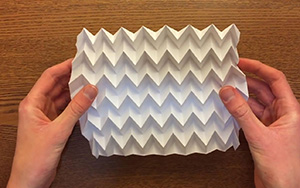 折纸鱼骨铺嵌,成品很有艺术感