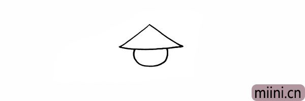 2.再画出稻草人的脸颊。