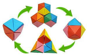 折纸变形魔球,这个玩具真带劲