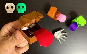 怪兽箱玩具,简单又好玩的折纸教程